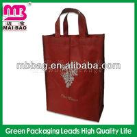 sew non woven six bottles bulk reusable wine tote bags