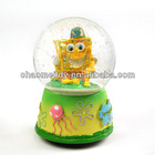 Custom cartoon figurine water globe
