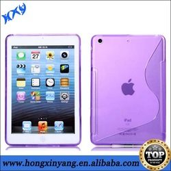 tpu gel case cover for ipad mini , transparent tpu clear case