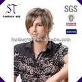 Guangzhou china st masculino perucas de cabelo( gf- w1167 #1b24t)
