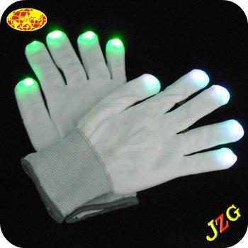 Finger Light Shows Finger light for halloween party:led light shows gloves