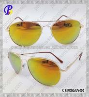 Stylish metal polaroid sunglasses with UV400 protection
