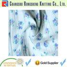 white ruffle knit 100% polyester fabric