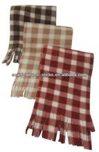 Polyester Fleece Scarf, Polyester Checker Scarf, 100 polyester Scarf