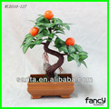 3 pcs laranja árvore de bonsai artificial