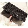 Lastest purses and handbags Sequin handBag cool black bead sequin bag clutch lady bag evening bag S737