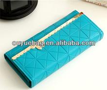Nice embossed PU women wallet/ lady purse