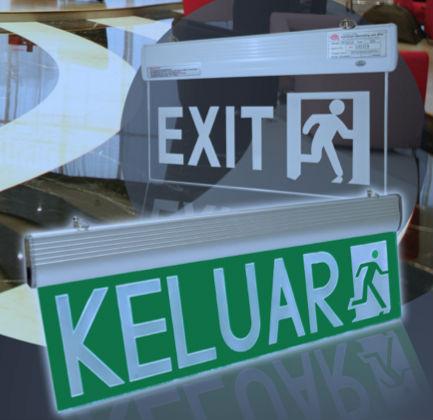 Emergency Exit/Keluar Sign TR 218 LC-E / TR 218 C