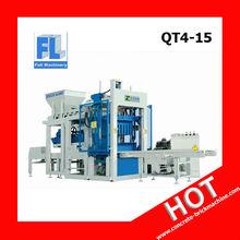 2015 HOT SALE !! QT4-15 automatic concrete block making machine price in india