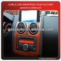 La textura de madera pvc auto-adhesivo de vinilo decoración interior del coche