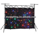 Wonderful effect led star cloth curtain