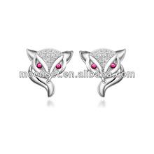 2013 925 siliver Fashion Earring Fox Racing Stud Earrings