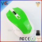 Newest Shenzhen ISO Manufacturer Wireless Optical 2.4G Optical Green computer mouse logo