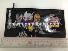 Black pvc pencil bag with printing