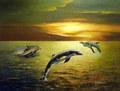 Mur art-hot vendre dauphin. images à imprimer