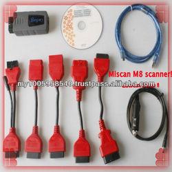 Lowest price !!!MiScan M8 Auto Scanner for Toyota Honda Mitsubishi proton