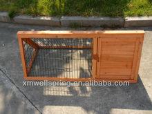 wooden rabbit hutch