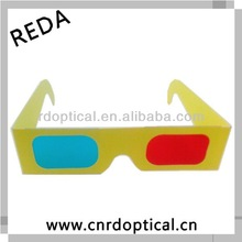 High quality 3d red cyan glasses for film,direct six watch movies
