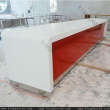 beauty salon solid surface reception desk/work top salon design