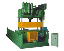 Hydraulic Press With 4 COLUMNS WITH FLIGHT CUTTINGS FOR PROFILING LINES