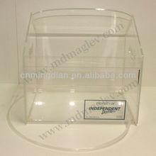 new style China manufacturer transparent acrylic ice bucket display, OEM design pop large acrylic ice bucket
