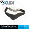 Stainless steel and leather dog leash collar SKL25
