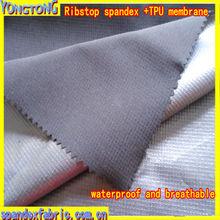Ribstop spandex + TPU +ribstop polar fleece fabrics