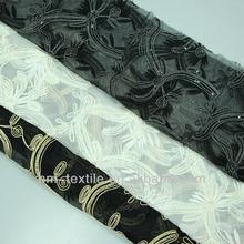 cordões de tecido bordado com lonas de fios metálicos e poliéster