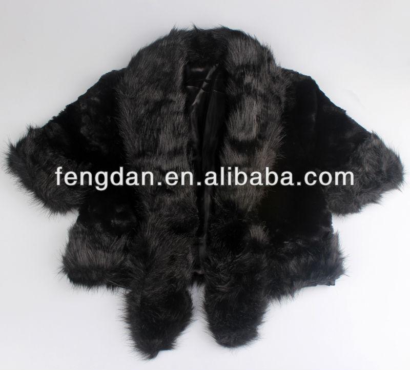 2014 lady pretty elegant fur vest,High quality black fur jacket,Tiger print faux short fur vest