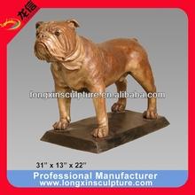 Bronze Bulldog with Base Sculpture Bronze Animal Sculpture