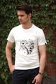 Moda 100% blanco de algodón camiseta proveedor de china