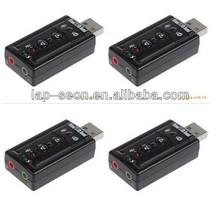 Mic/Speaker 7.1 Audio Adapter USB 2.0 7.1 Channel Sound card