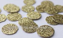 Paper Gold Glitter Party table Confetti -Circle Confetti - Die Cut