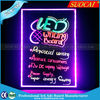 HOT SALE Eye-catching Magic Acrylic Menu Board Led HandWriting Restaurant Illuminated Menu Board
