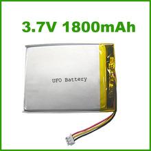 LP103450 3.7V 1800mAh li-polymer battery for GPS and mobile phone
