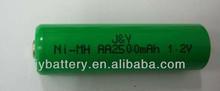 2500mAh AA Battery/NiMH AA Battery/1.2V AA Battery