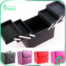 Makeup Organizer Cosmetic Train Case Kit Beauty Box Professional Cosmetic Makeup Case