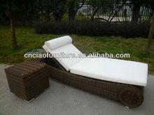 D-high quality rattan sun lounger GB-20+GB-20CT