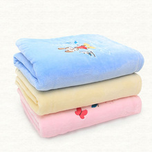 100% Polyester Soft Colorful baby Coral Fleece Blanket