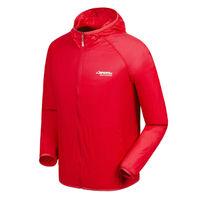 men 100 polyester lightweight waterproof jacket with hood