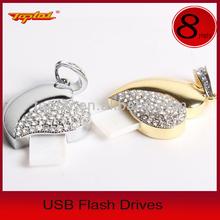 Hot Selling Promotional Gift Love Heart Usb,Jewelry Heart Shape Usb Flash