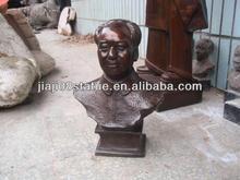 bronze bust chairman mao sculpture
