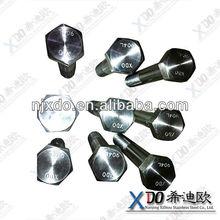 monel K-500 NO5500 2.4375 hub bolts monel k500 round bar m14 hex flange bolt