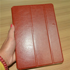 For ipad air Leather case Wallet style open on the side slim and 3 folding stand cover