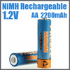 Shenzhen pkcell battery supply AA size 2200 mAh NI-MH rechargeable battery