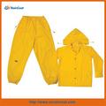 Clc ropa de lluvia amarillo poliéster piezas traje de lluvia de goma impermeable - XLarge
