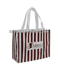 Purple Non woven shopping bag