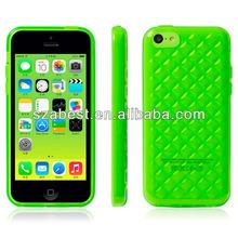 Diamond Pattern Soft Gel TPU Case for iPhone 5C,2013 New Arrival TPU Case For iPhone 5C