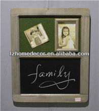 wooden balckboard with photo frame for shop and home decoration
