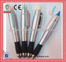 promotional plastic pen wiht key holder ballpoint pen
